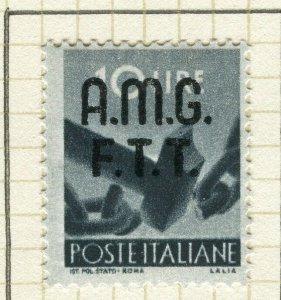 ITALY VENEZIA GIULIA; 1947 early AMG FTT Optd. Mint hinged 10L. value
