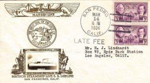 1936, Matson Steamship, S.S. Lurline, San Pedro, CA, See Remark (N2679)