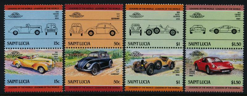 St Lucia 739-42 MNH Cars