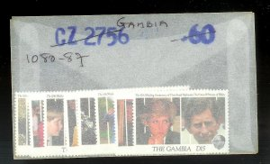 THE GAMBIA Sc#1080-1087 Complete Mint Never Hinged Set