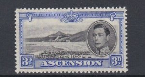 ASCENSION  1938  S G 42   3D BLACK  & ULTRAMARINE  PERF 131/2 MNH CAT £100