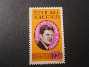 Burkina Faso 1964 Sc C19 John F Kennedy set MNH
