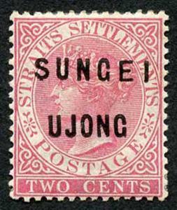 Negri Sembilan SG31 2c pale rose Opt type 16 and 21 M/Mint (hinge remainders)