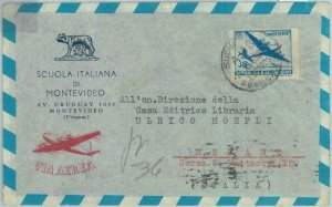 86108 - URUGUAY - POSTAL HISTORY -  AIRMAIL  COVER to ITALY 1953