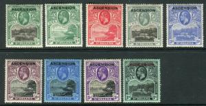 ASCENSION-1922  A mounted mint set to 3/- Sg 1-9