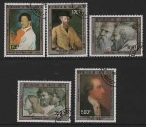 BURKINA FASO   638-642 FRESCO DETAIL BY RAPHAEL SET 1983