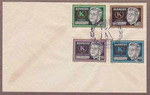 Uruguay John F Kennedy # 714 - 715 & # C269 - C270 , JFK FDC - I Combine S/H