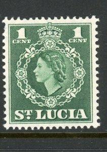 St. Lucia 157 MH 1954