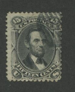1866 US Stamp #77 15c Used Average Catalogue Value $170