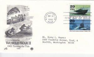 1993, Turning the Tide-WW2-1943, Art Craft/PCS, FDC (E11124)