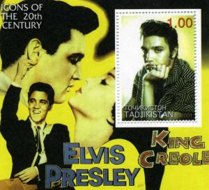 Tadjikistan 2001 Elvis Presley s/s Perforated mnh.vf