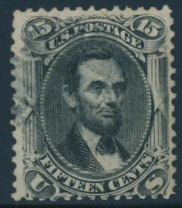 #77 15c F-VF USED WITH LIGHT CANCEL CV $170 AU895