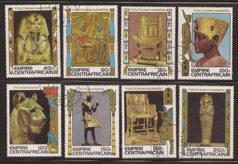 Central  African  Empire  #  349 - 56   used  CTO.       B