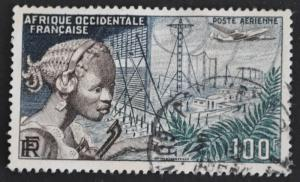 DYNAMITE Stamps: French West Africa Scott #C19 – USED
