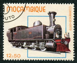 Railroads: Locomotive No. 41 (1896), 1979 Mozambique, Scott #660. Free WWv S/H