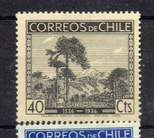 Chile 1936 Anniversary Issue Mint hinged Shade of 40c. NW-12981