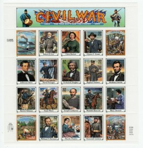 U S SCOTT #2975 SOUVENIR SHEET CIVIL WAR 32 CENT MNH