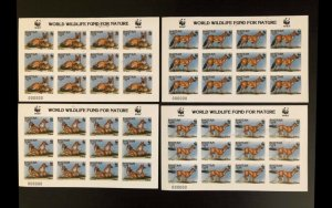 Bhutan WWF imperf PROOF SHEET wth Signed not issued see scan image