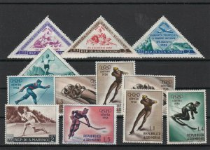 republic of San Marino Mounred Mint mostly Sports Stamps Ref 23830