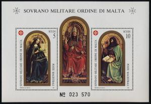 Sovereign Order of Malta 312a MNH St John Battista X, Madonna