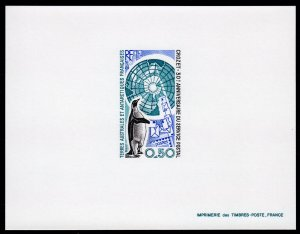 FSAT/TAAF 1991 Sc#158 PENGUIN POSTAL SERVICE CROZET Deluxe S/S Imperforated MNH