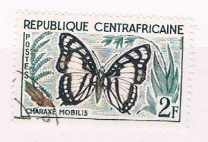 Central African Rep 6 Used Butterfly 1960 (C0270)