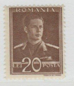 Romania King Michael 1943-45 Wmk Cross and Mult Crown 20L MNH** A18P26F743