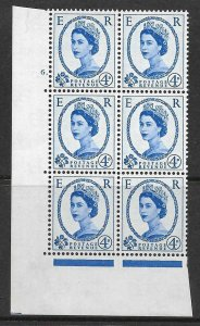 4d Wilding Multi Crown on Cream Cyl 6 Dot perf A(E/I) UNMOUNTED MINT