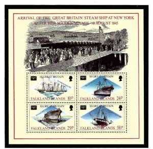 Falkland Is 449a MNH 1986 Ships S/S