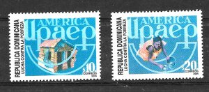 #965 DOMINICAN REP DOMINICANA 2004 FIGHT POWERTY YV 1445-6, MNH