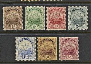 STAMP STATION PERTH Bermuda #81,82,83b,85,87,89,91 Caravel MH CV$38.00