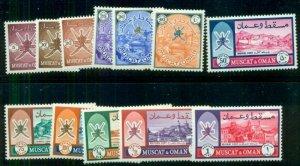 OMAN (Muscat) #110-21, Complete set, og, LH, VF, Scott $216.25