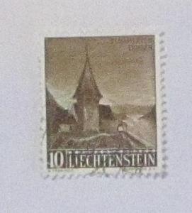 Liechtenstein - 317, Used. Chapel, St. Mamertis. SCV - $0.35