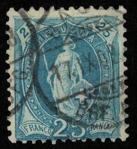 Switzerland, 1899-1900, 25 Fr, MC #67 (T-7311)