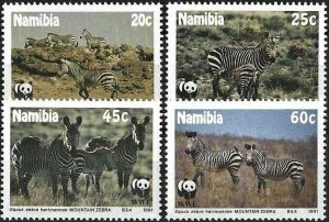 1991 Namibia WWF, Mountain Zebra complete set VF/MNH! LOOK!