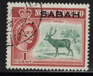 Malaysa Sabah overprint on North Borneo Scott 1 Used
