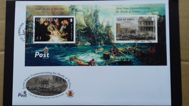 Isle of Man FDC 2005 The 200th Anniversary of the Battle of Trafalgar