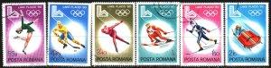 Romania. 1979. 3666-71. Lake Placid, Winter Olympics. USED.