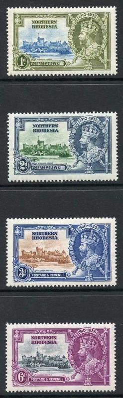 Northern Rhodesia SG18/21 1935 Silver Jubilee Set M/M
