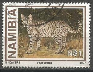 NAMIBIA, 1997, used $1 Wild Cats, Scott 826
