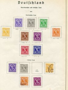 Germany Occupation mostly     Mint lot F-VF -  Lakeshore Philatelics