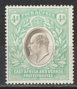 EAST AFRICA & UGANDA 1904 KEVII 4R WMK MULTI CROWN CA