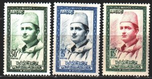 Morocco. 1956. 408-12 from the series. King of Jordan. MNH.
