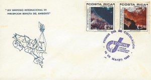 COSTA RICA SYMPOSIUM on REMOTE SENSING of the ENVIRONMENT Sc C780-C781 FDC 1980
