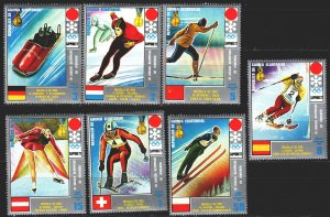 Equatorial Guinea. 1972. 66-72. Vedeneev, champion, Sapporo, winter olympic g...