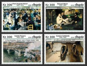 Z08 IMPERF ANG190110a ANGOLA 2019 Impressionist Paintings MNH ** Postfrisch