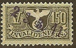 Stamp Germany Revenue WWII Fascism War War Era Medical V 150 Invalid Used