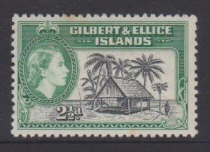 Gilbert and Ellice Islands Sc#64 MH - a couple tone spots