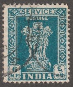 India stamp, Scott#O131, used, hinged, 6NP, #I-131-1
