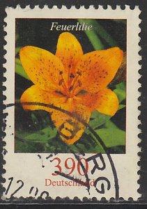 Germany, Used Flower Definitive, Sc. no. 2323, 390c hi value